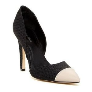Calvin Klein Belle Matte Snake Pump Black Heel